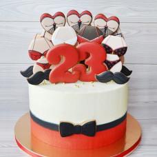 Прикольный торт на 23 февраля