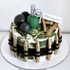 Торт ветерану на 23 февраля