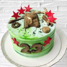 Красивый торт на 23 февраля