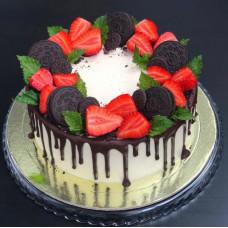 Торт на 23 февраля с печеньем Орео