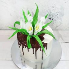 Торт цветы на 8 марта