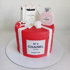 Торт духи Шанель на 8 марта
