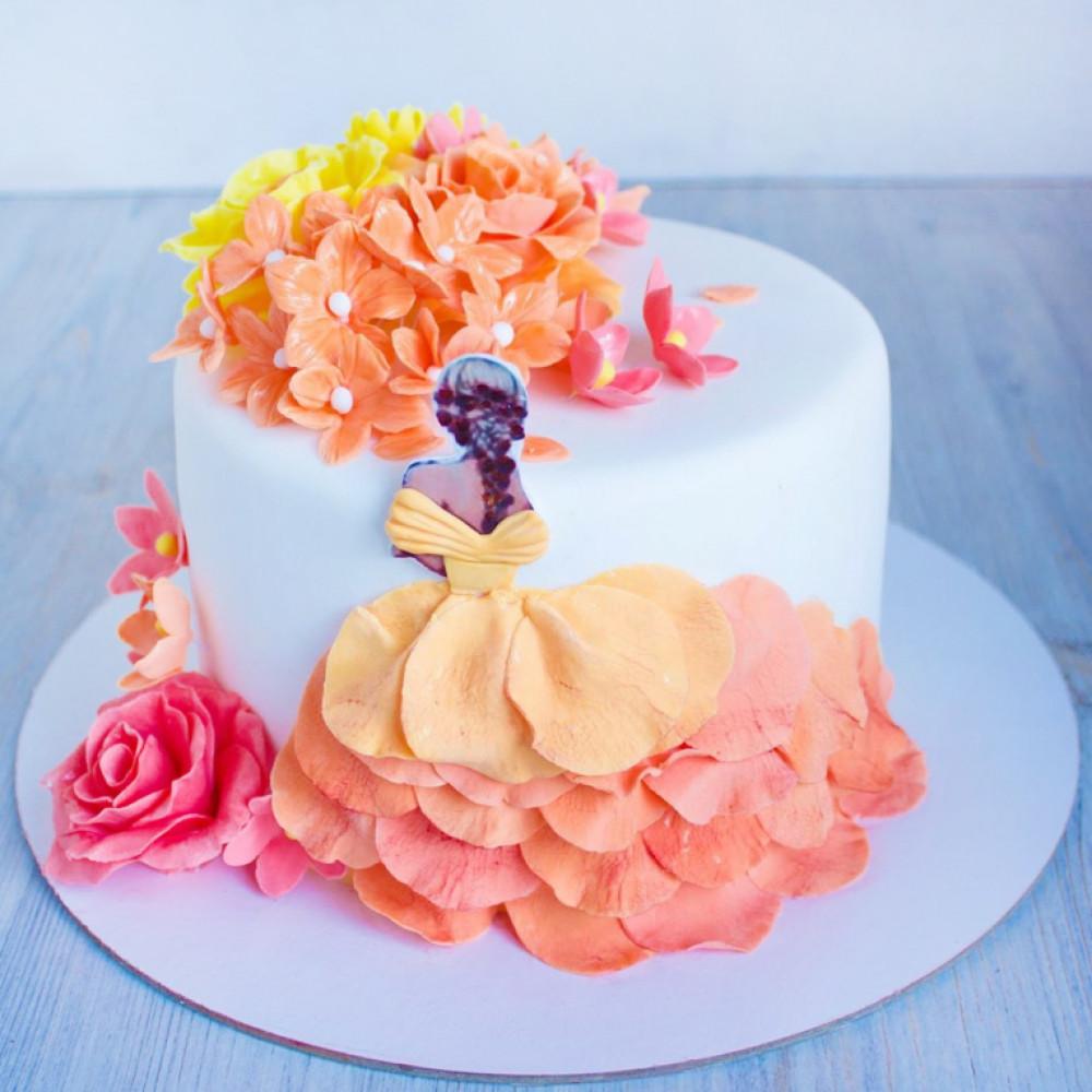 Торт девушке на 8 марта