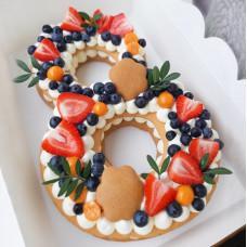 Торт Цветочная восьмерка