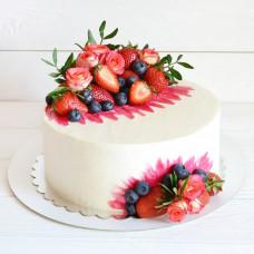 Торт на 8 марта с фруктами и ягодами
