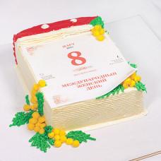 Торт в виде перекидного календаря