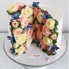 Красивый торт на 8 марта