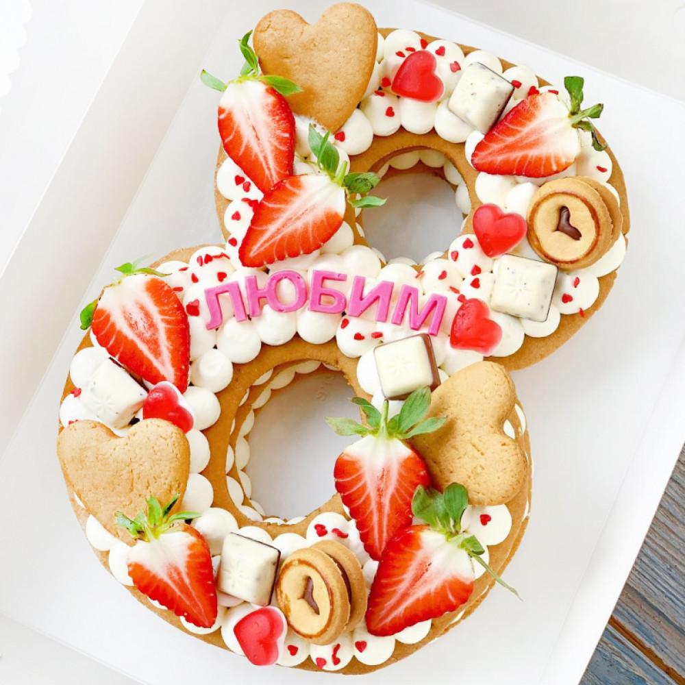 Торт с восьмеркой на 8 марта
