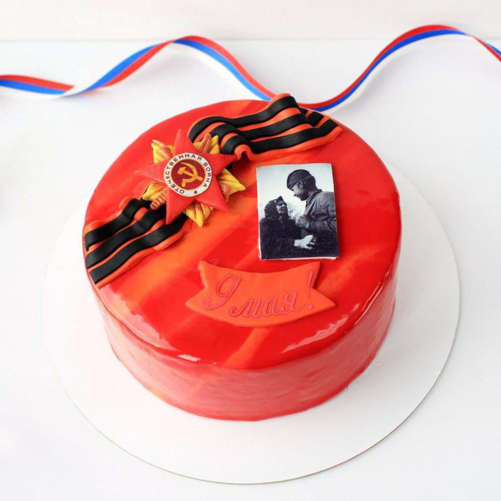 Торт на 9 мая с георгиевской лентой