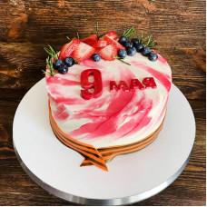 Кремовый торт на 9 мая