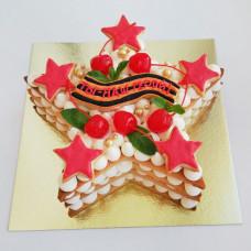 Торт звезда на 9 мая