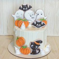 Торт на Хэллоуин с пряниками