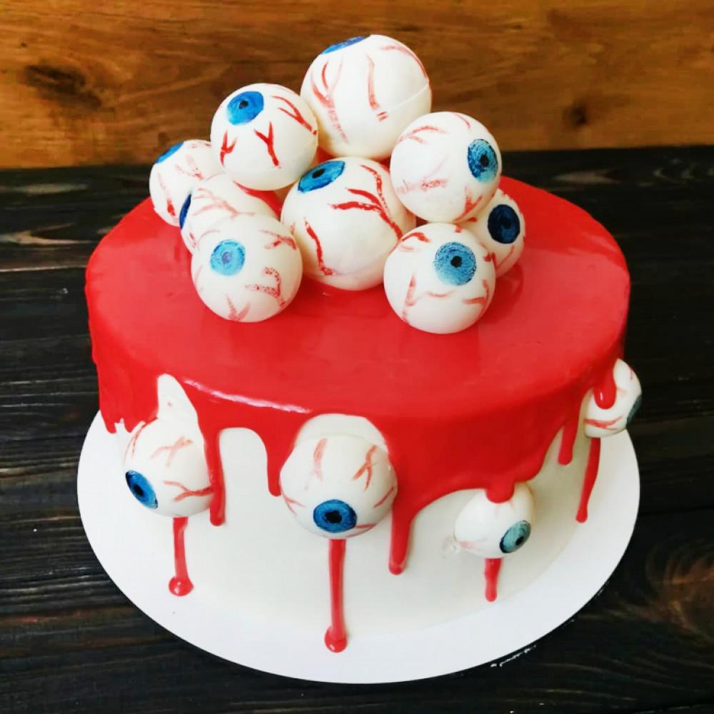 Торт с глазами на Хэллоуин
