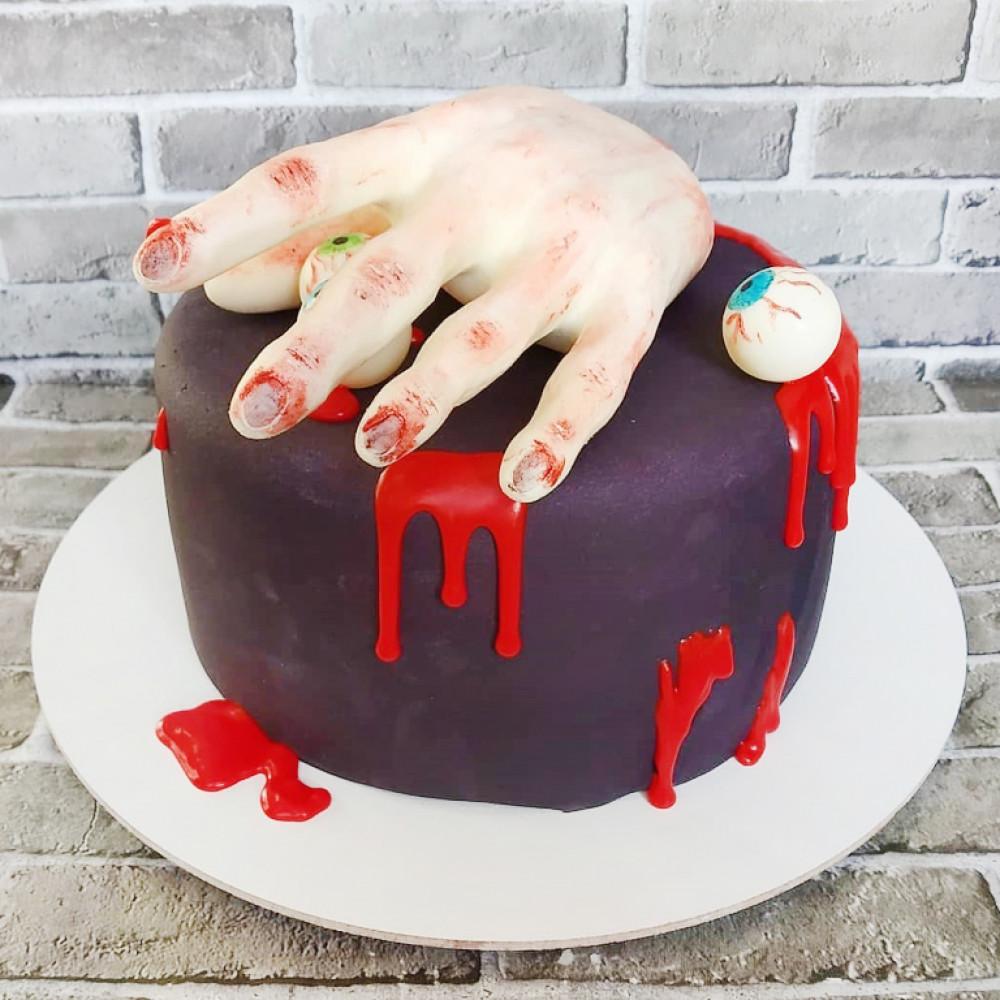Страшный торт на Хэллоуин