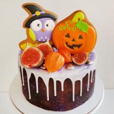 Торт на Хэллоуин без мастики