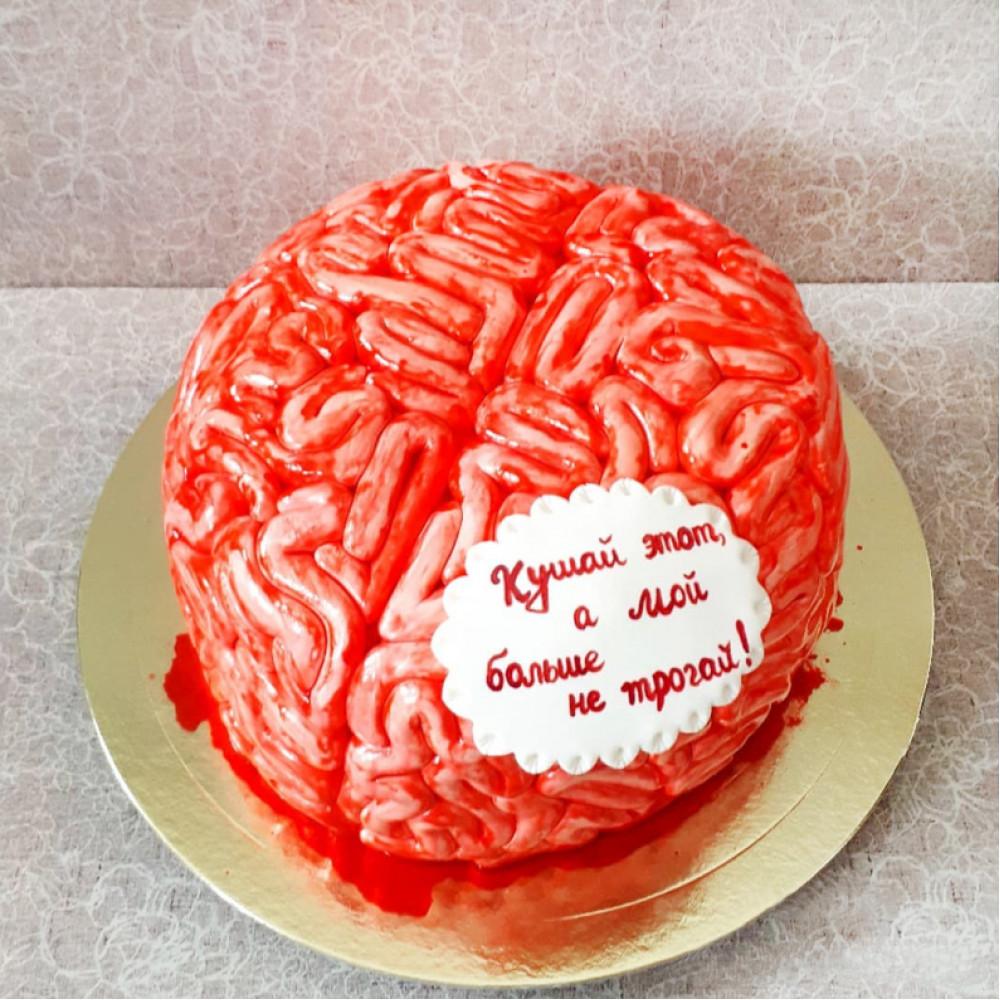 Торт в виде мозга