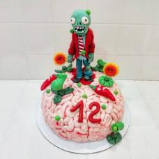 Торт мозг по игре «Зомби против растений»