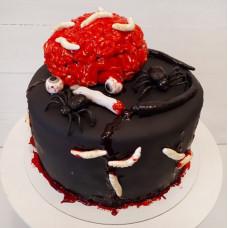 Торт в виде мозгов