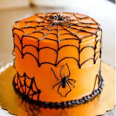 Торт с пауками и паутиной к Хэллоуину