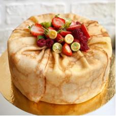Торт на масленицу из блинов