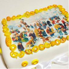 Торт в русском стиле на Масленицу