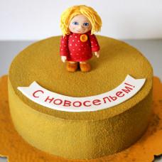 Торт на новоселье с Домовенком Кузей