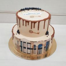 Двухъярусный торт на новоселье