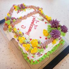 Торт на новоселье без мастики