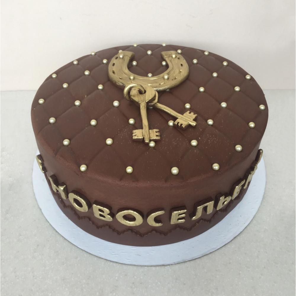 Мастичный торт на новоселье