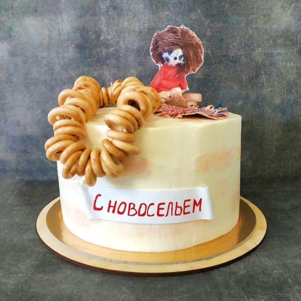 Торт на новоселье с бубликами и пряниками
