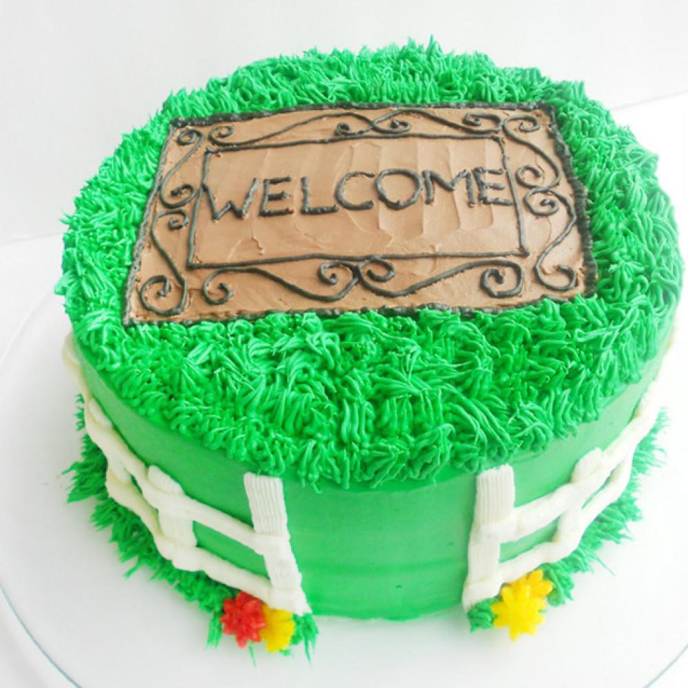 Кремовый торт на новоселье