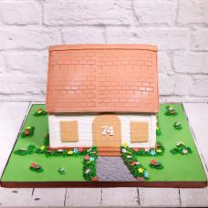 Торт на новоселье в виде дома
