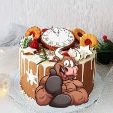 Торт бычок новогодний