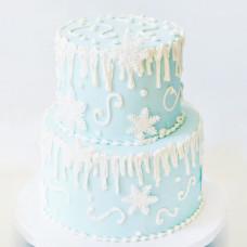 Торт двухэтажный на Новый год