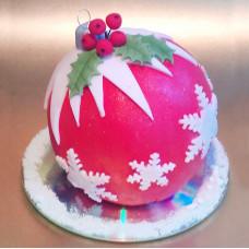 Торт ёлочная игрушка 3D