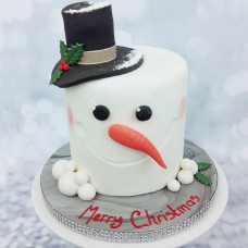 Торт снеговик на Рождество