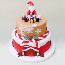 Торт с Дедушкой Морозом на новогодний стол