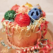Торт Елочные шары в коробке