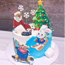 Торт на Новый 2021 год Быка
