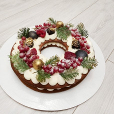 Торт на новый год без мастики