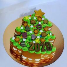 Торт елка на Новый год