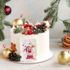 Торт с оленем на Новый год