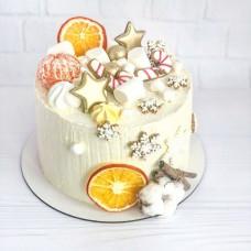 Новогодний торт с мандаринами