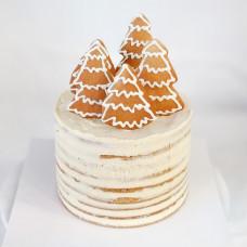 Новогодний торт с пряниками