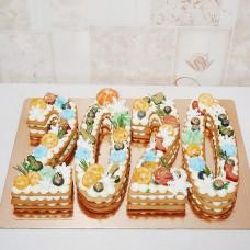 Новогодний торт цифра
