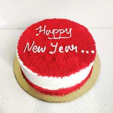 Новогодний торт красный бархат