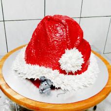 Торт шапка на Новый год