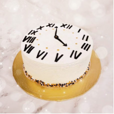 Торт в вид новогодних часов