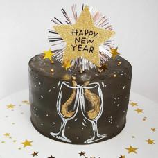 Новогодний торт 2021 без мастики