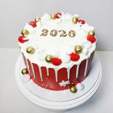 Красивый торт на Новый год